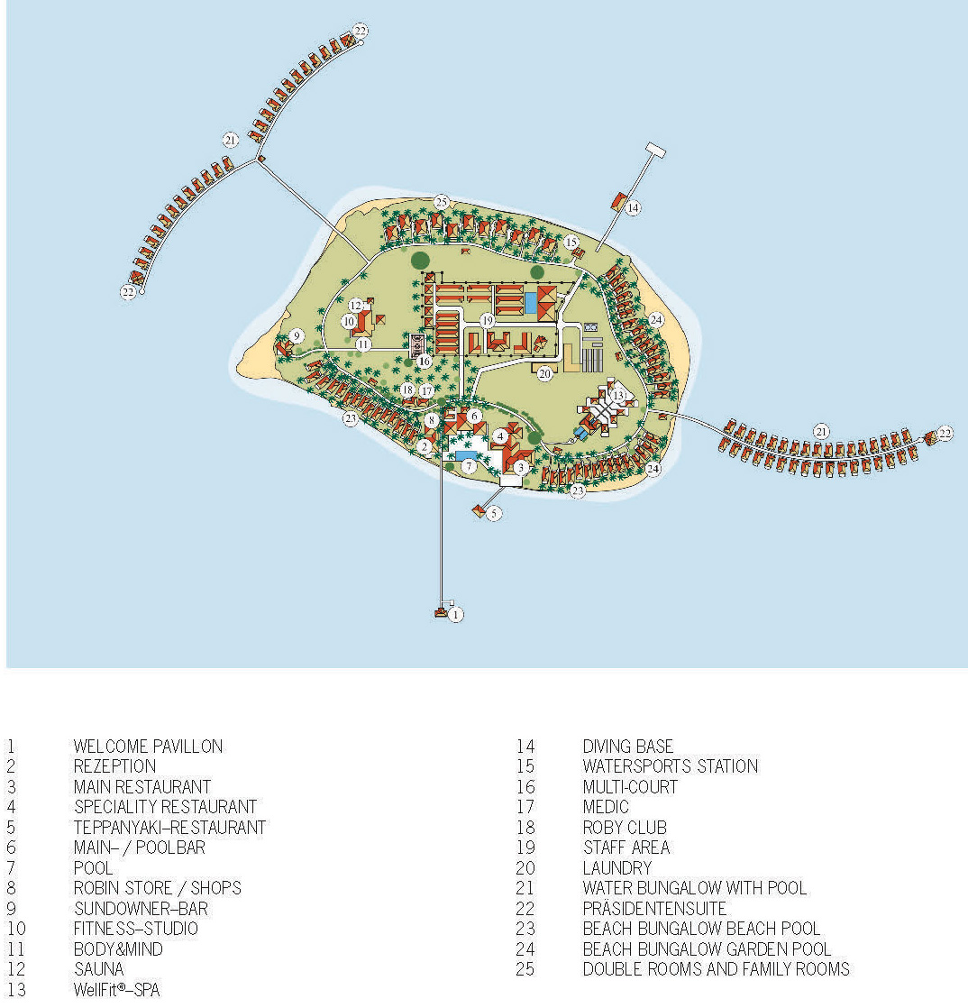 mappa Robinson Club Noonu, Map Maldives