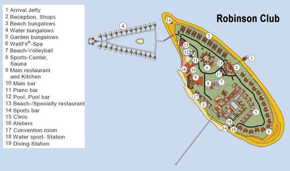 mappa Robinson Club Maldive, Map Maldives
