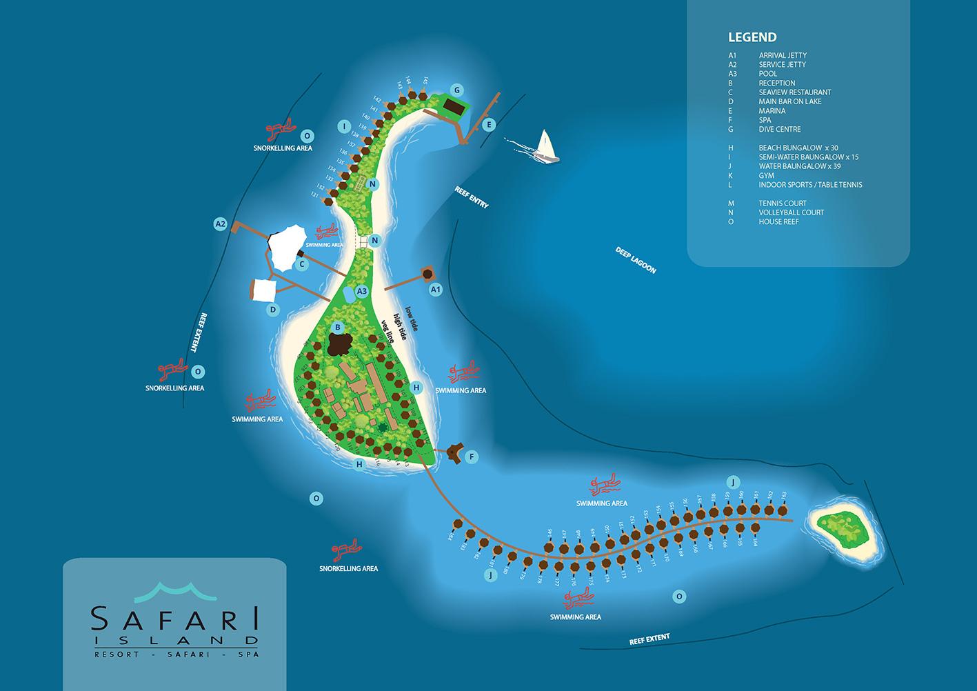 mappa Safari Island Maldive, Map Maldives