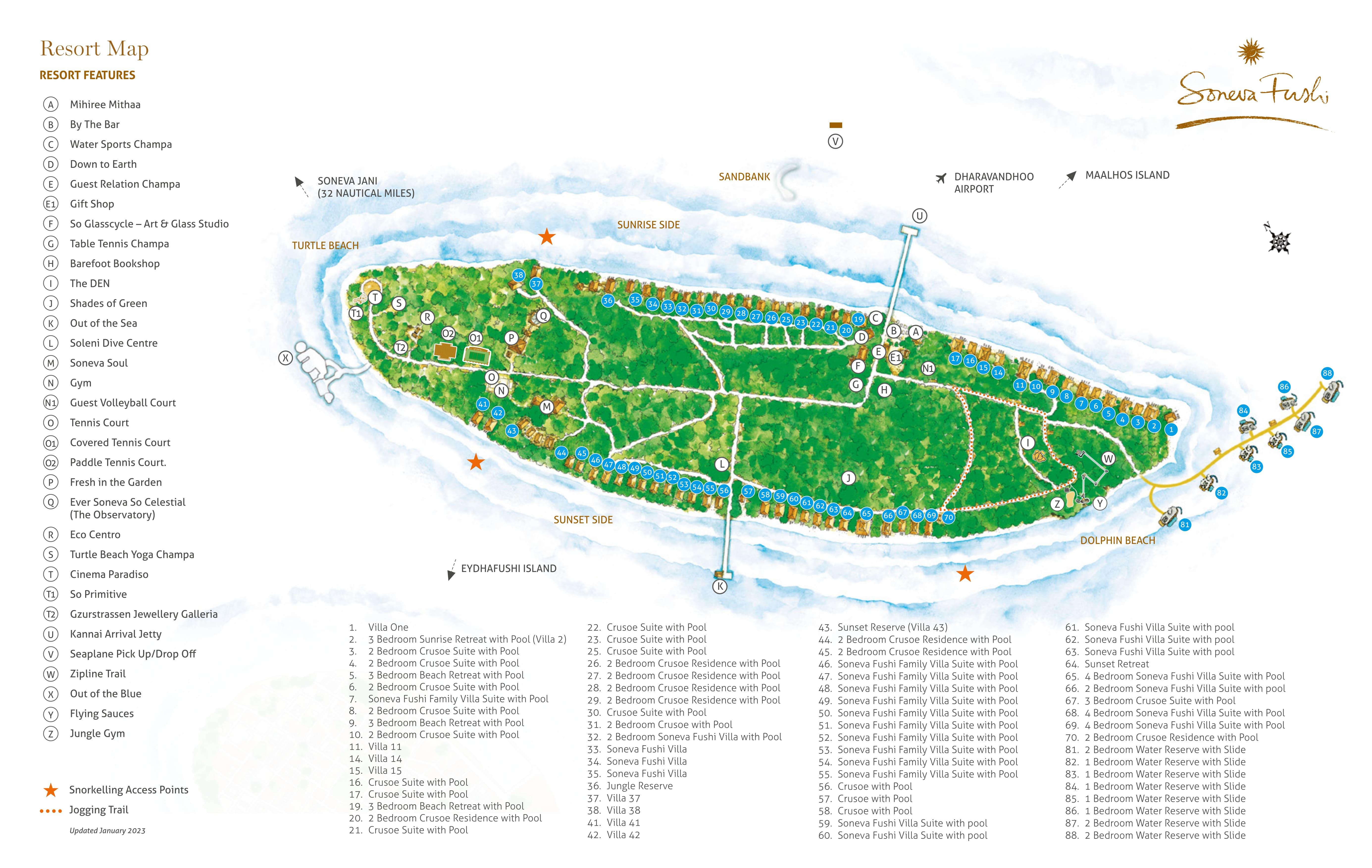 mappa Soneva Fushi Maldive, Map Maldives