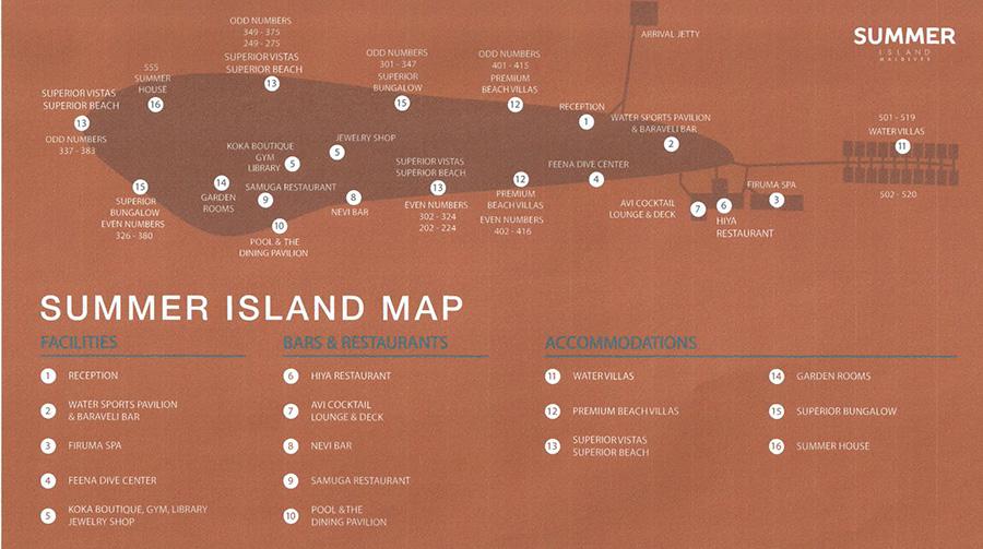 mappa Summer Island Maldive, Map Maldives