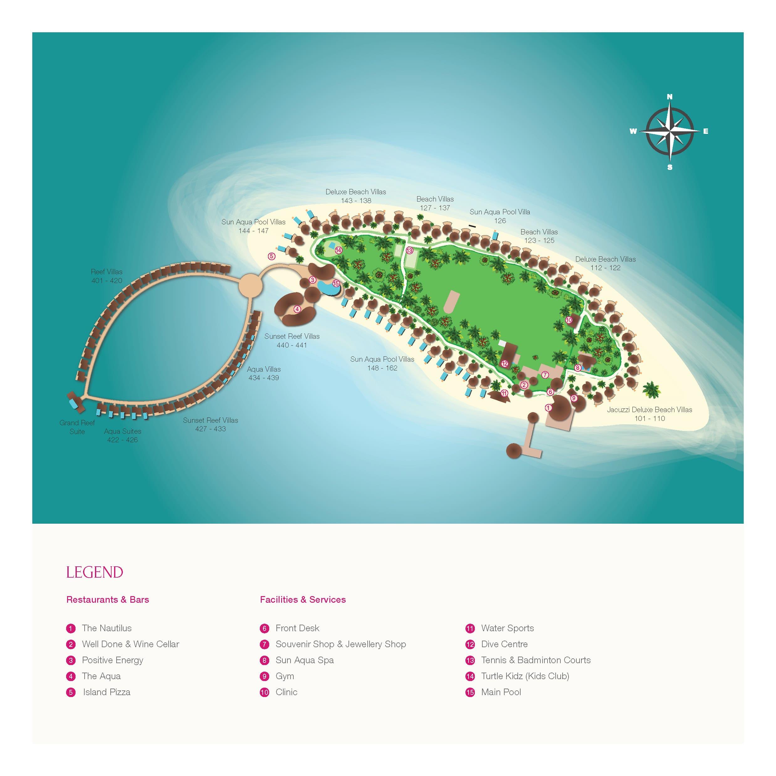 mappa Vilu Reef Maldive, Map Maldives