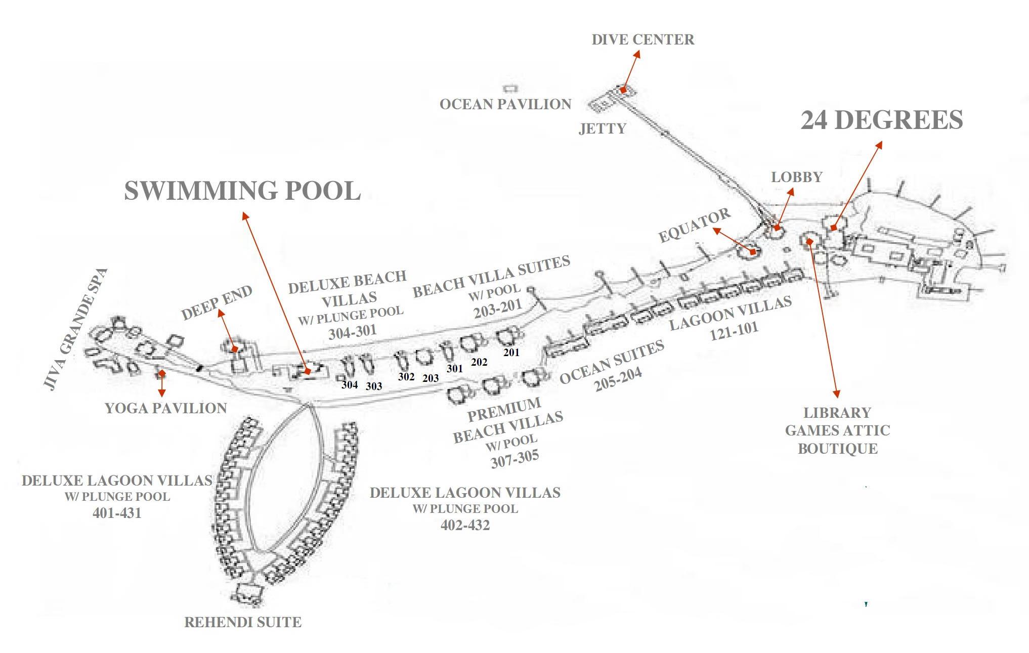 mappa Taj Exotica Maldive, Map Maldives