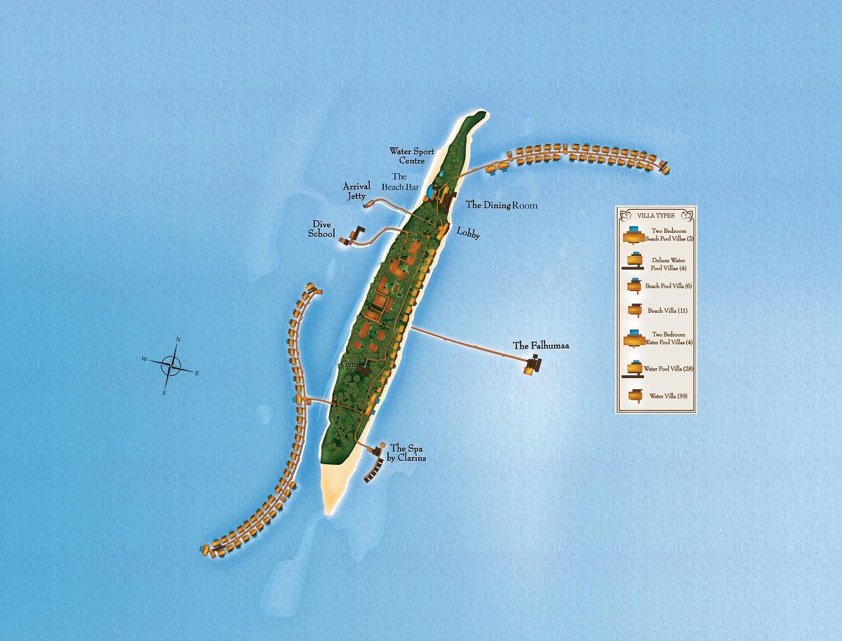mappa The Residence Maldives, Map Maldives