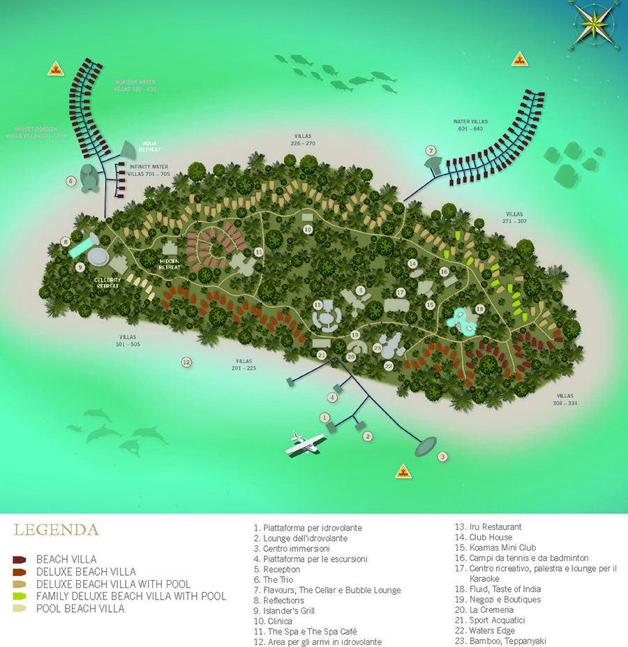mappa The Sun Syam Irufushi Resort Maldive, Map Maldives