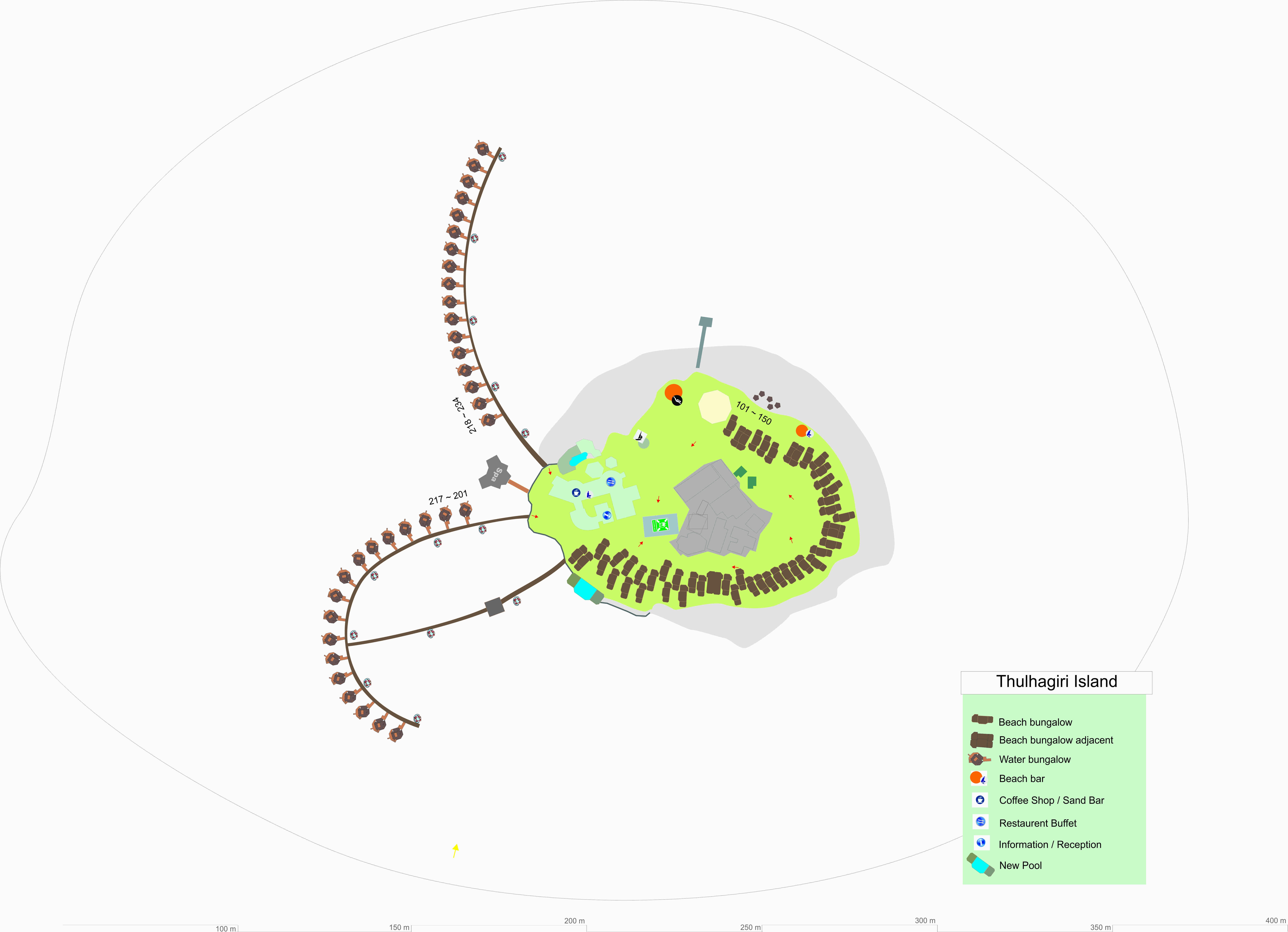 mappa Thulhagiri Maldive, Map Maldives