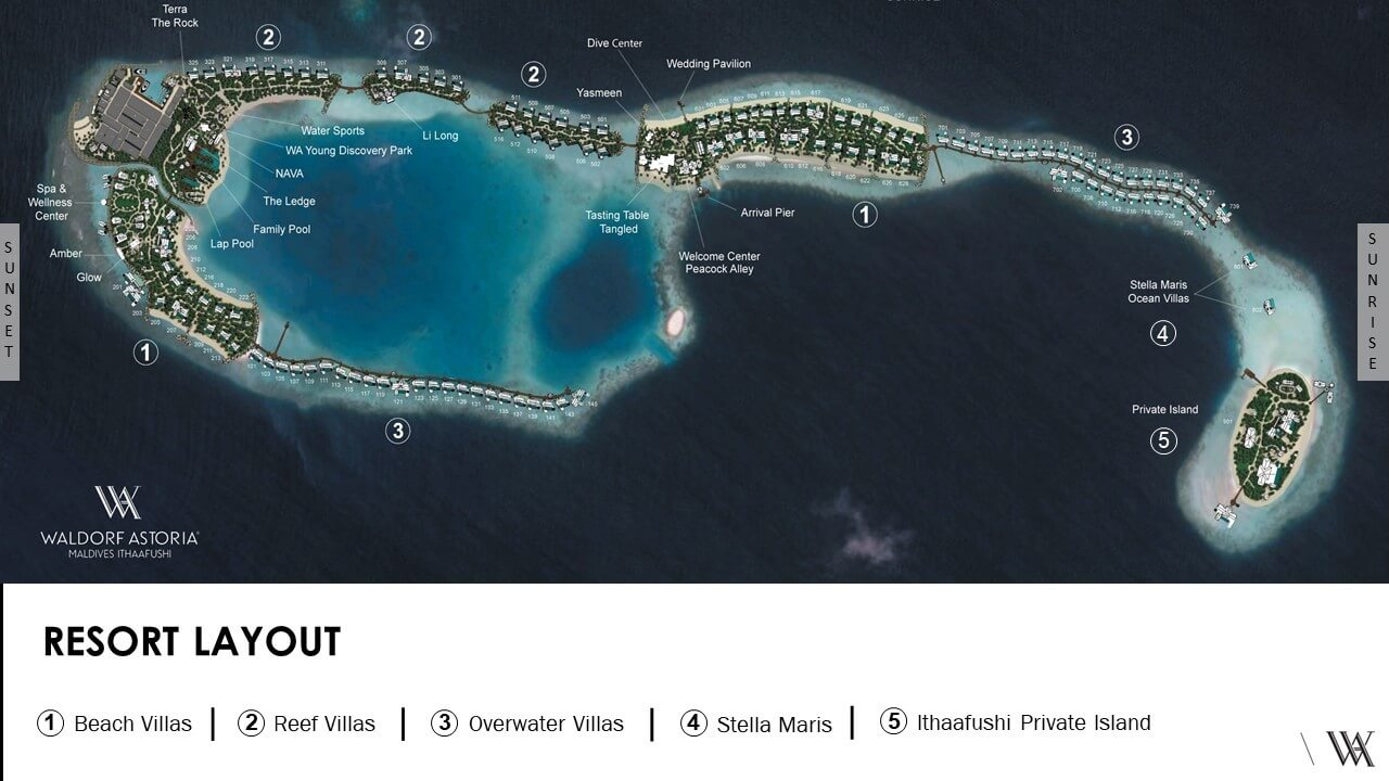 mappa Waldorf Astoria Maldives, Map Maldives