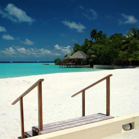 tempo alle Maldive sereno